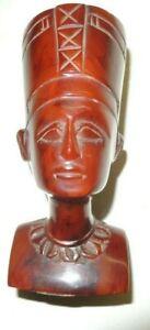 vtg.Butterscotch Amber Faturan Bakelite Queen Nefertiti Figurine sculpture 185g