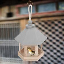 Wooden Bird Feeder House Birdhouse Hanging Nest Nesting Box Home Garden Decor