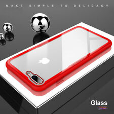 Ultra Thin Tempered Glass + TPU Bumper Shockproof Slim Case For iPhone 6s Red
