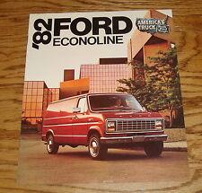 Original 1982 Ford Econoline Sales Brochure 82 Van