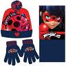 Miraculous Ladybug 3er-Set -Schlauchschal ,Handschuhe, Mütze 4-6 Jahre