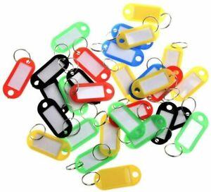 Key Tags Plastic Key Rings ID Tags Name Label Key Fob Tag Mix Color Random