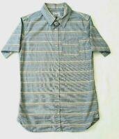 Lucid Mens Multicoloured Shirt Size M Button Up Short Sleeve Stripe Pocket
