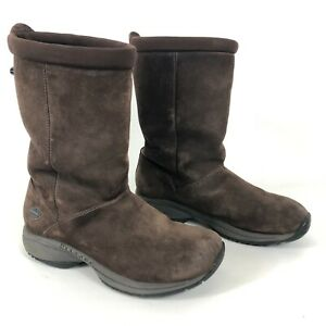 MERRELL Primo Chill Massif Womens Size 8 Winter Boots Brown Suede Sherpa Lined