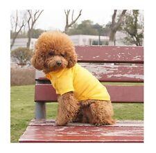 Hundebekleidung Hundeshirt T - Shirt Hundepolo Poloshirt Chihuahua Yorky Gelb S