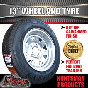 13x4.5 & 175R13C Galvanised Ford Pattern Sunraysia Boat Trailer Wheel Rim & Tyre