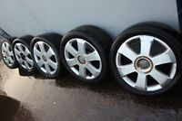 AUDI A4 B6 GENUINE CONVERTIBLE ALLOY WHEELS SET OFF 5 235/45 R17 WITH TYRES
