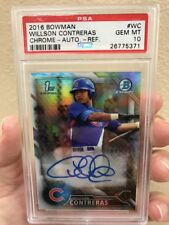 Willson Contreras 2016 Bowman Chrome Rookie Refractor Auto PSA 10 GEM MINT