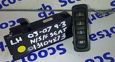 SAAB 9-3 93 Left Hand Seat Memory Function Buttons Switch & Store 13104873 04-10