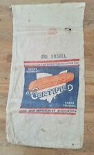 Vintage Certified Feed Sack Canvas Bag One Bushel