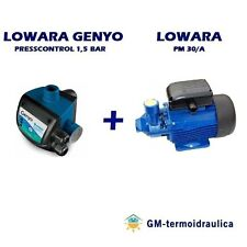 Kit Autoclave Elettropompa LOWARA PM 30 + Press Control LOWARA GENYO 8A/F15