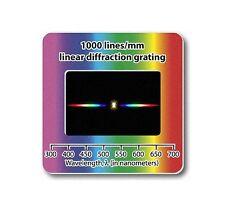 Réseau de diffraction 1000 lignes/mm Filtre Diapositive - grating slide line