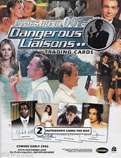 JAMES BOND DANGEROUS LIAISONS MASTER SET AUTOGRAPHS RARE INSERTS CASE INCENTIVES