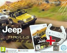 Nintendo Wii Bundle pack «JEEP THRILLS + VOLANT~WHEEL» nuovo import con italiano