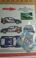 DECALS 1/18 REF 667 RENAULT MEGANE MAXI RAGNOTTI RALLYE MONTE CARLO 1997 RALLY