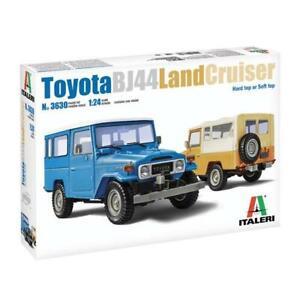 Italeri 3630 1/24 Toyota Land Cruiser BJ-44 Soft/Hard Top Rubber Tyres Plastic M