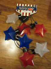 Patriotic Red, White, & Blue Blinking Jumbo Star Necklace New With Tag