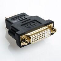 DVI-I (24+5) zu HDMI Adapter | DVI Buchse auf HDMI Stecker | Kontakte Vergoldet
