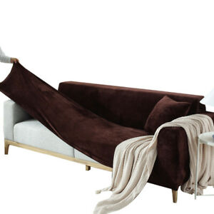 Solid Color Elastic Sofa Covers 1-4 Seater Slipcover Home Living Room Decoration
