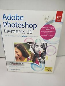 Adobe Photoshop Elements 10 Software w/ Serial Number☆☆