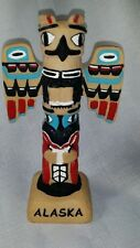 Alaskan totem pole souvenir cast on piece,  nicely painted