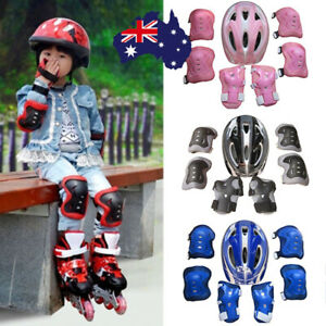 7PCS/SET Kids Protective Gear Set Scooter Skate Roller Cycling Knee Elbow Pad D