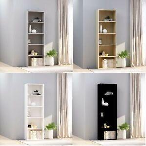 60x30x189 cm 5 Tier Book Cabinet Storage Bookcase Display Shelf Rack Organizer
