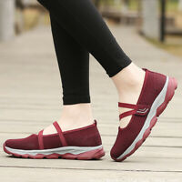 Women casual shoes breathable mother sneakers for the elderly walking shoes PTJC