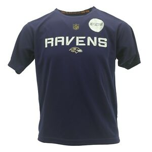 Baltimore Ravens Youth Kids Size official NFL Dri Tek NFL Athletic T-Shirt New