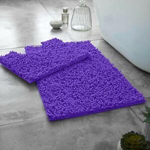 MEMORY LOOP DESIGN BATH MAT SET 2 Pcs Non Slip Pedestal Mat Toilet Bathroom Rugs