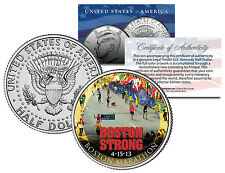 BOSTON STRONG * BOSTON MARATHON JFK U.S Mint Half Dollar Coin with COA & CAPSULE