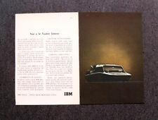M145- Advertising Pubblicità -1960- IBM , MACCHINA PER SCRIVERE ELETTRICA
