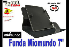 "FUNDA GIRATORIA 360 NEGRA TABLET MIOMUNDO 7"" UNIVERSAL BARATA G"