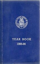 PROVINCIAL GRAND LODGE OF NORFOLK MASONIC YEAR BOOK 1985 - 86 PAPERBACK