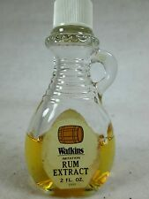 Vintage Watkins 2 oz.Rum Extract glass bottle