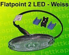 Aspöck Begrenzungsleuchte Flatpoint 2 LED Weiss 0,5 m Kabel - 31-6909-017