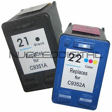 Pack 2 Cartuchos Tintas HP21 HP22 HP Deskjet 3910  3920  3930  3940 3950  D1300