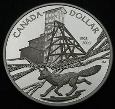 CANADA 1 Dollar ND(2003) Proof - Silver - Cobalt Mining Centennial - 3575