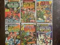 John Carter, Warlord of Mars Bronze Age Comic Book Lot,  Marvel, VF/NM, 1977.