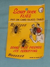 vintage SCARY TRICK FLIES prank toy