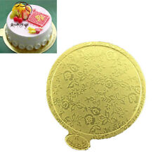 20*Mousse Cake Boards Gold Paper Biscuit Dessert Displays Wedding Party Supplies