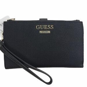 Guess Maxxe Double-Zip Organizer Wallet - Black