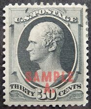 Us Sc# 190s Type L *Mint Og H* { -Vf- 30c A. Hamilton } Sample A Overprint 1889