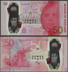 Scotland Bank of Scotland 50 Pounds 2021( In 2020) Polymer @EBS
