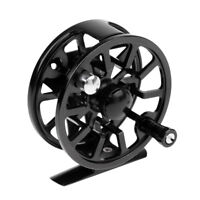 Dolity 3/4 WF Fly Fishing Reel Large Arbor CNC Machined Fly Reel 75mm Black