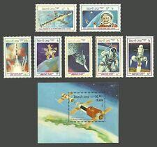 LAOS 1986 FIRST MAN IN SPACE 25TH ANNIVERSARY YURI GAGARIN SET & SHEET MNH