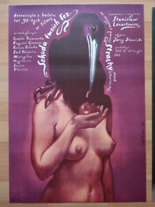 Lot of 4 Original Vintage 1980`s Movie Poster  - POLISH SCHOOL OF POSTERS