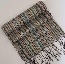Paul Smith Silk Scarf Grey Multi Stripes