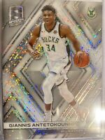 2017-18 Spectra White Sparkle Prizm Giannis Antetokounmpo Milwaukee Bucks