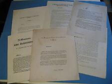 LOT DE 6 TRACTS ELECTIONS CHINON 1834-39 TOURAINE PISCATORY TASCHEREAU ROYALISME